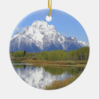 Mt. Moran Grand Teton National Park Ceramic Ornament