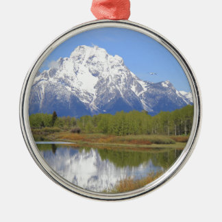 Mt. Moran Grand Teton National Park Metal Ornament