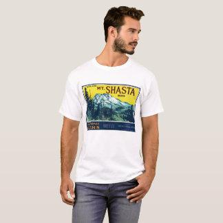 Mt. Mount Shasta California CA Pears Vintage Label T-Shirt
