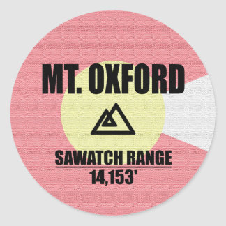 Mt. Oxford Classic Round Sticker