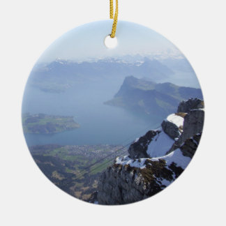 Mt. Pilatus Switzerland Ceramic Ornament