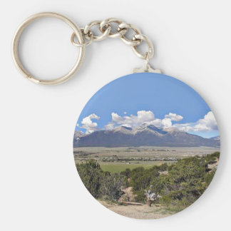 Mt Princeton and Arkansas River Valley Basic Round Button Key Ring