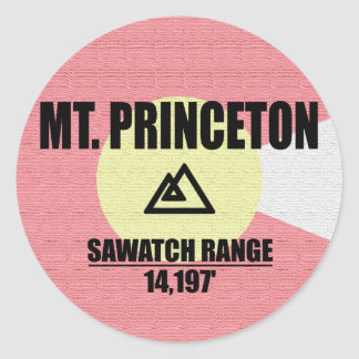 Mt. Princeton Round Sticker