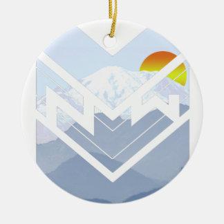 mt rainer ceramic ornament