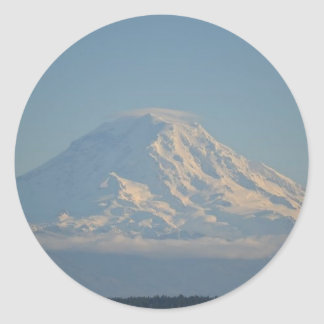 Mt Rainer.jpg Classic Round Sticker