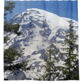 Mt. Rainier Aglow Shower Curtain