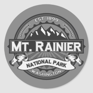 Mt. Rainier Ansel Adams Classic Round Sticker