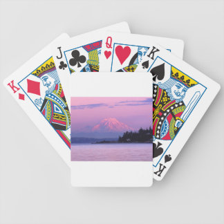 Mt. Rainier at Sunset, Washington State. Poker Deck