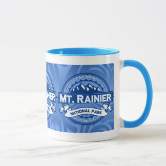 Mt. Rainier Blue Mug