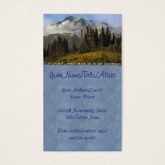 Mt Rainier Business Card
