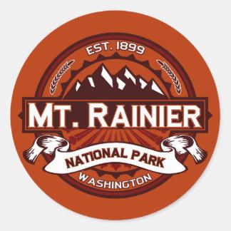 Mt. Rainier Crimson Round Sticker
