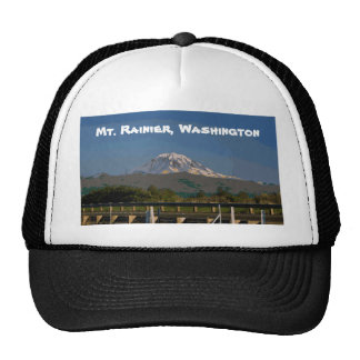 Mt. Rainier in Washington State Mesh Hats