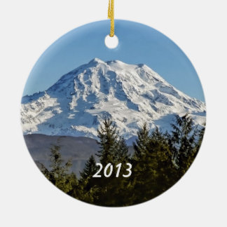 Mt. Rainier Keepsake Ceramic Ornament