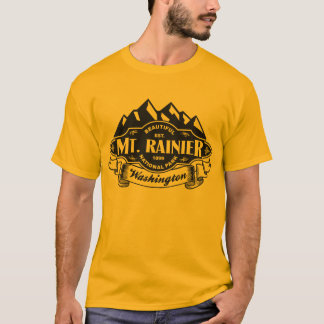 Mt. Rainier Mountain Emblem Black T-Shirt