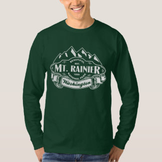 Mt. Rainier Mountain Emblem White T-Shirt