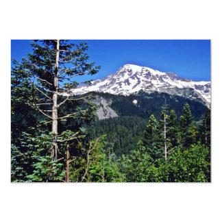 """Mt. Rainier National Park 5"""" X 7"""" Invitation Card"""
