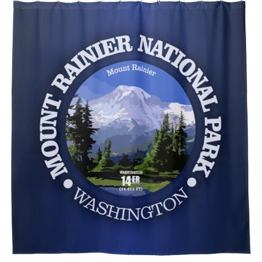 Mt Rainier NP Shower Curtain