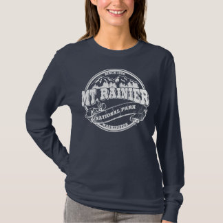 Mt. Rainier Old Circle White T-Shirt