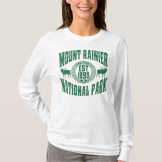 Mt. Rainier Old Style Green T-Shirt