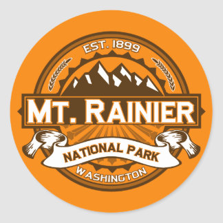 Mt. Rainier Pumpkin Classic Round Sticker