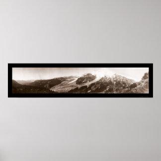 Mt. Rainier WA Photo 1907 Poster