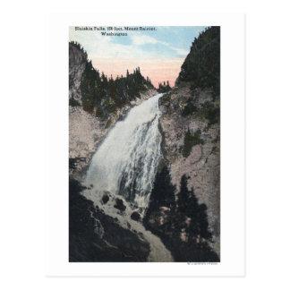 Mt. Rainier, Washington - View of Sluiskin Falls Postcard
