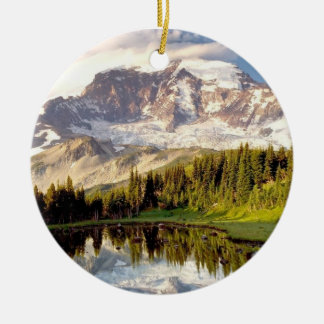 Mt. Ranier Ceramic Ornament