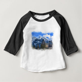 Mt Rundle and Famous Hotel, Banff, Alta, Canada Baby T-Shirt
