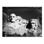 Mt. Rushmore B&W Postcard