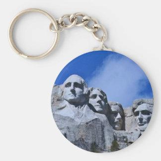 Mt. Rushmore Landmark Basic Round Button Key Ring