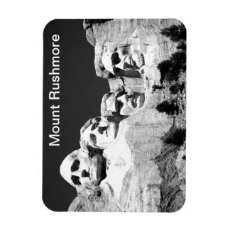 Mt Rushmore Magnet in BW