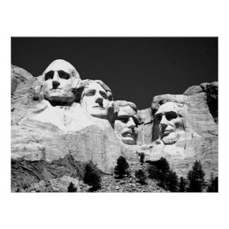 MT Rushmore Poster/ BW Poster
