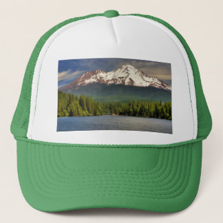 MT SHASTA FROM LAKE SISKIYOU TRUCKER HAT