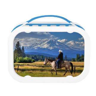 MT SHASTA WITH HORSE AND RIDER LUNCH BOX