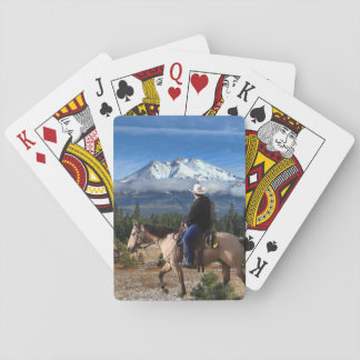 MT SHASTA WITH HORSE AND RIDER PLAYING CARDS