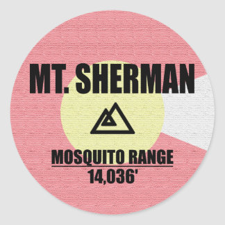 Mt. Sherman Round Sticker