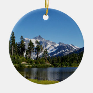 Mt Shuksan From Picture Lake Christmas Tree Ornaments