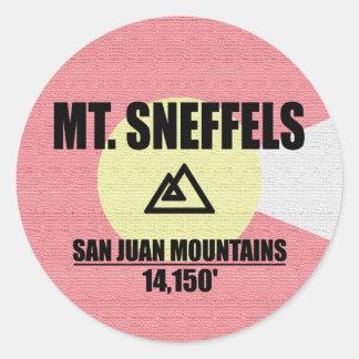 Mt. Sneffels Classic Round Sticker