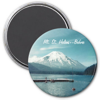 Mt. St. Helens--Before Round Magnet