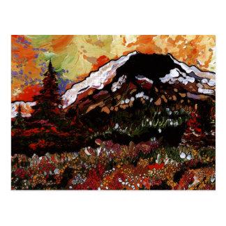 Mt St Helens Sunset Postcard