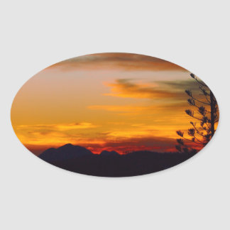 Mt Wheeler sunset oval sticker