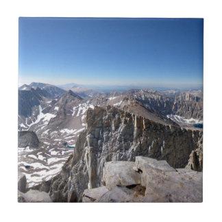 Mt Whitney Summit - John Muir Trail - Sierra Ceramic Tile