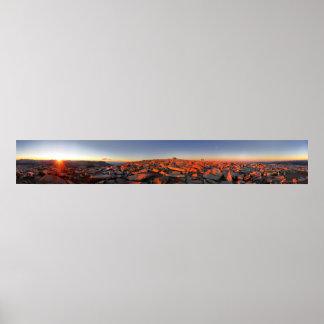 Mt Whitney Sunset Panorama - John Muir Trail Poster