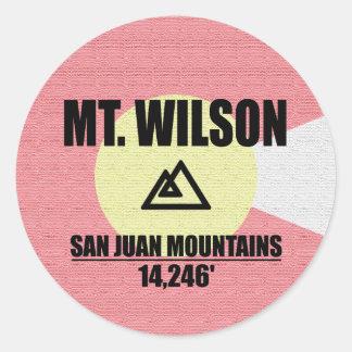 Mt. Wilson Classic Round Sticker