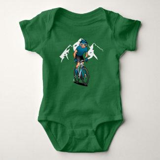 MTB - Mountain biker in the mountains Baby Bodysuit
