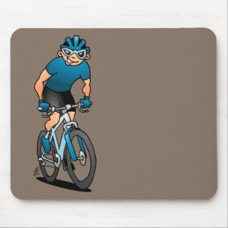 MTB - Mountain biker in the mountains Mouse Pad