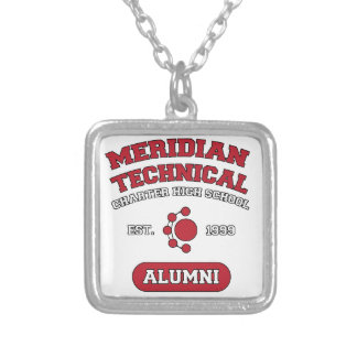 MTCHS Alumni College Style Silver Plated Necklace