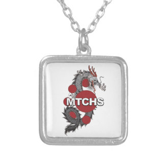 MTCHS Dragon Logo Square Pendant Necklace