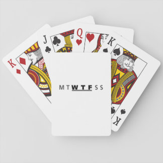 MTWTFSS WTF Days of The Week Funny Cool Playing Cards