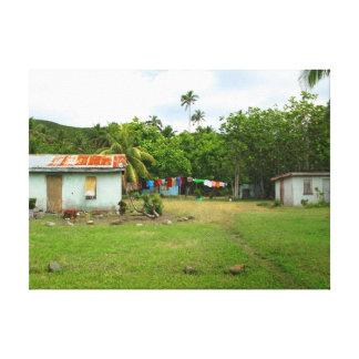 Muaira village, Fiji Stretched Canvas Prints